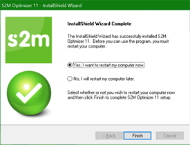 S2M Optimizer Installation Step 7